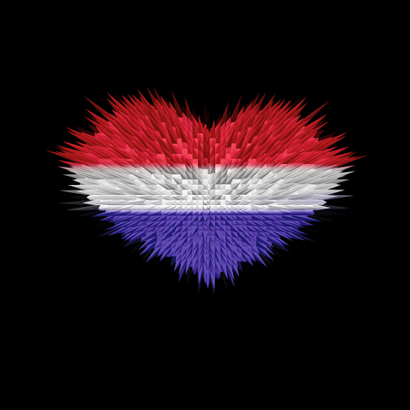 The Heart of Netherlands Flag abstract background.