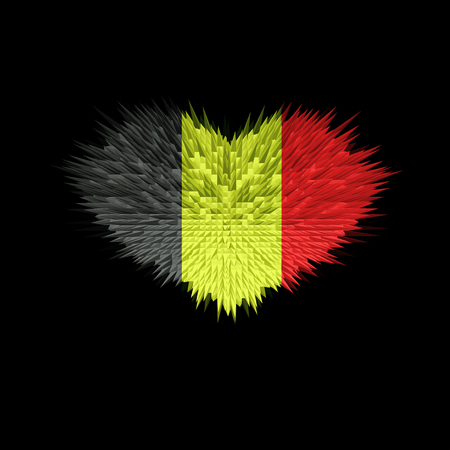 The Heart of Belgium Flag abstract background.