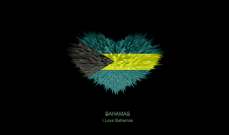 The Heart of Bahamas Flag abstract background.