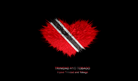 The Heart of Trinidad and Tobago Flag abstract background. Stock Photo