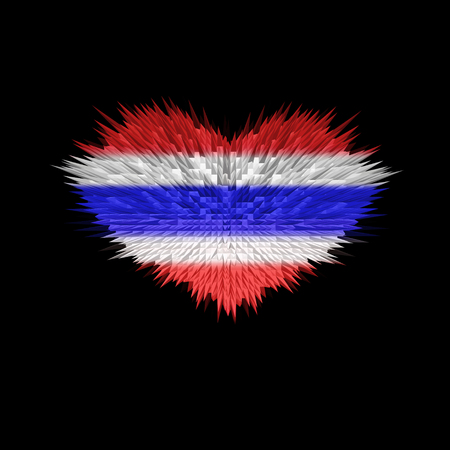 The Heart of Thailand Flag abstract background.