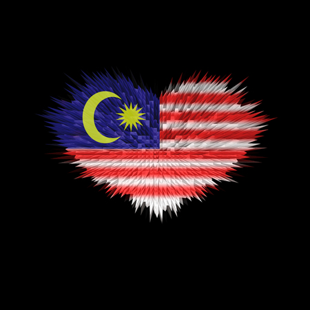 The Heart of Malaysia Flag abstract background.