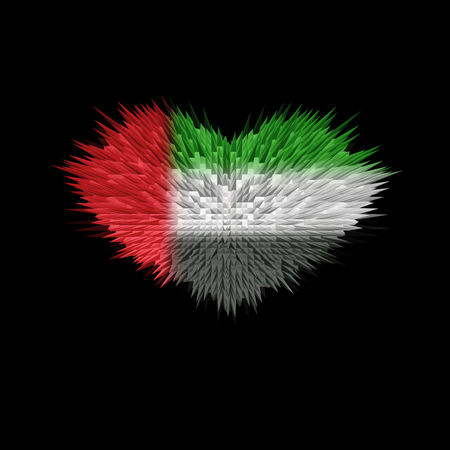 The Heart of UAE Flag abstract background.
