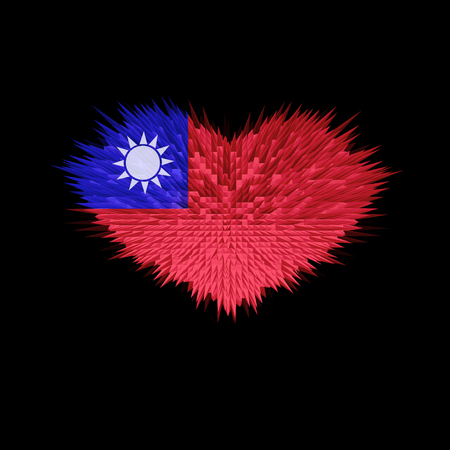 The Heart of Taiwan Flag abstract background. Stock fotó