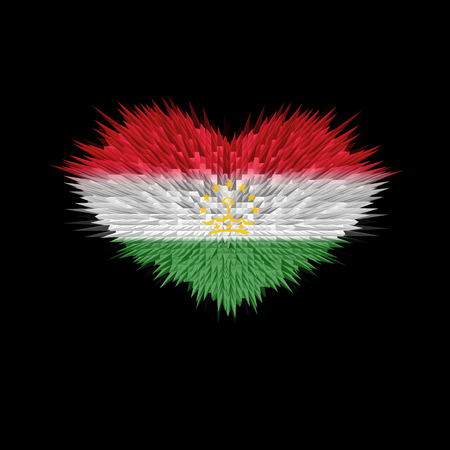 The Heart of Tajikistan Flag abstract background.