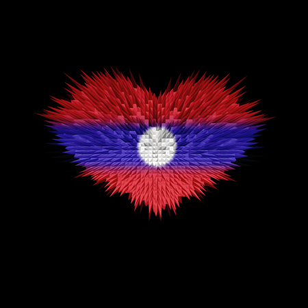 The Heart of Laos Flag abstract background.