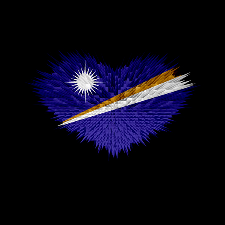 The Heart of Marshall Islands Flag abstract background. Stock Photo