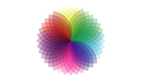 Abstract colorful round shaped design