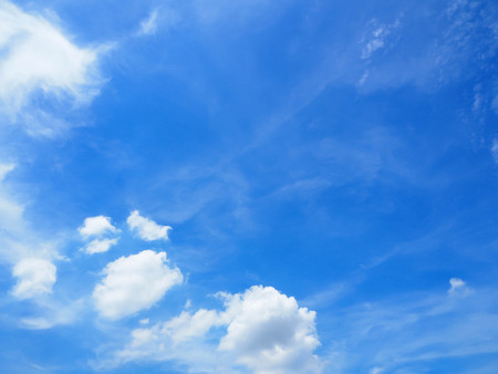 Fantastic soft white clouds against with blue sky abstract background.