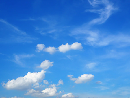 Fantastic soft white clouds against with blue sky abstract background.. Stock fotó