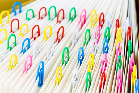 office supply: Closeup of clips