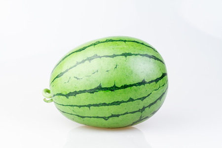 Closeup of watermelon on white background