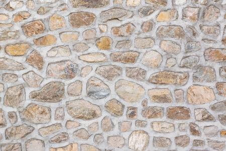 Closeup of stone wall Stock Photo