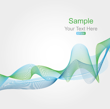 blue green background: Blue and green modern futuristic background with abstract waves. Illustration