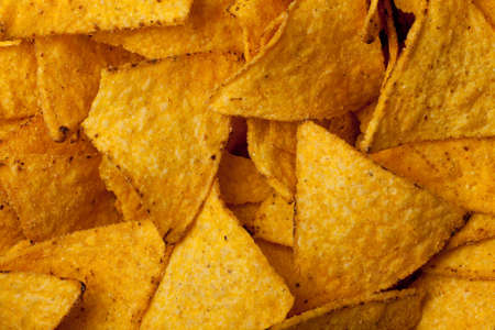 some tortilla chips forming a background pattern Stock Photo - 8788918