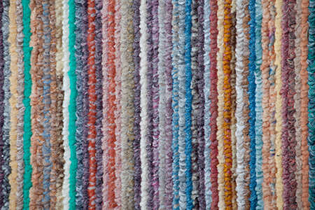 a closeup of some colored striped fabric Stock Photo - 8788946