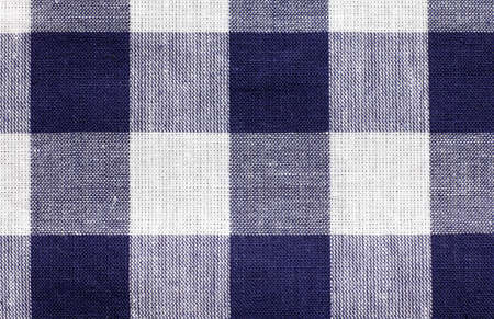 some blue and white checkered fabric forming a background pattern Stock Photo - 8788948