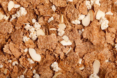 some cornflakes and nuts forming a background pattern Stock Photo - 9312739