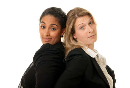 a young team of businesswomen looking confident