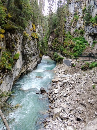 Johnston Canyon Trail, Upper and Lower Falls, Banff National Park, Canadian Rockies, Alberta, Canada