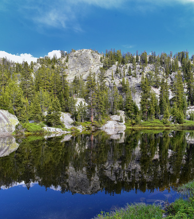 Wind River Range, Rocky Mountains, Wyoming, views from backpacking hiking trail to Titcomb Basin from Elkhart Park Trailhead going past Hobbs, Seneca, Island, Upper and Lower Jean Lakes as well as Photographers point. Stock Photo