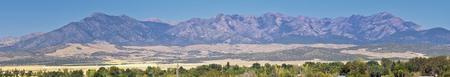 Utah Rocky Mountain Wasatch Panoramic Landscapes by Fishlake National Forest, along Interstate 15 I-15, through Holden, Fillmore, Beaver, Scipio and Parowan Utah, USA. 免版税图像