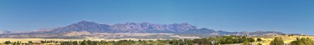 Utah Rocky Mountain Wasatch Panoramic Landscapes by Fishlake National Forest, along Interstate 15 I-15, through Holden, Fillmore, Beaver, Scipio and Parowan Utah, USA.