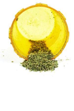 illegal: Weed, Medical Marijuana Grunge Detail and Background Stock Photo