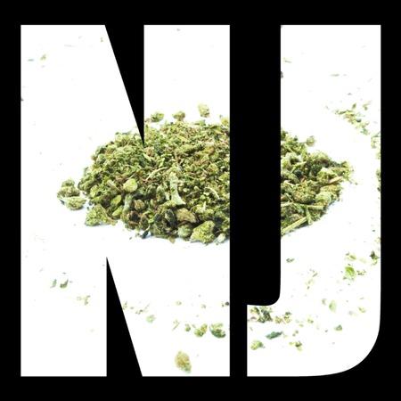 New Jersey Marijuana Icon And Symbol Text And Image Nj Stock Photo
