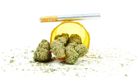 Marijuana and Cannabis Legalization, Objects on White , Medical and Recreational Weed