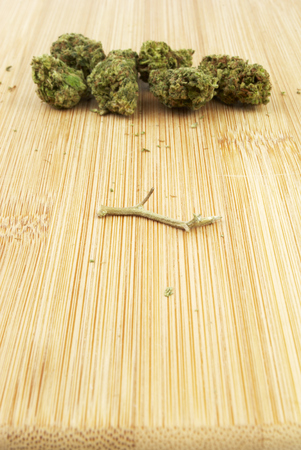 legalization: Marijuana and Cannabis Legalization, Objects on White Background, Medical and Recreational Weed Stock Photo