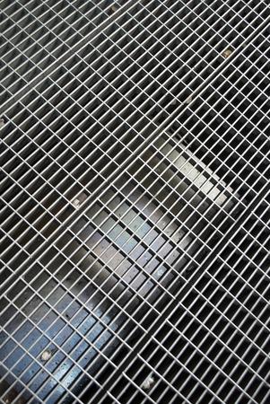 crack: metal flooring Stock Photo