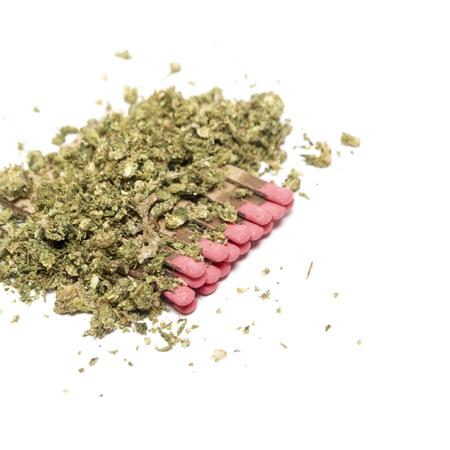 Marijuana and Cannabis on a White Background photo