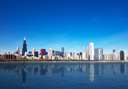 Chicago Skyline from Lake Michigan Stock Photo - 8635879