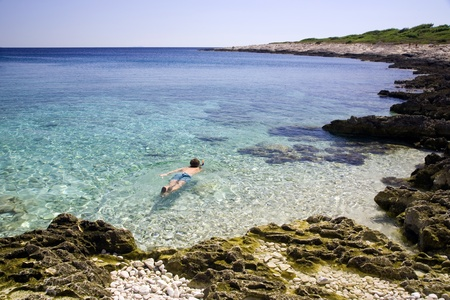 Beach holiday snorkeling adventure Stock Photo