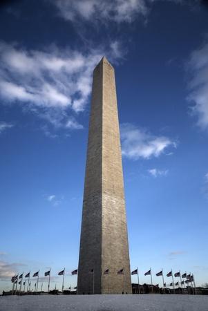 Washington Monument, USA Flags