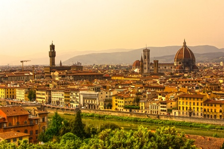 View of Florence at sunset Stock Photo - 8678859