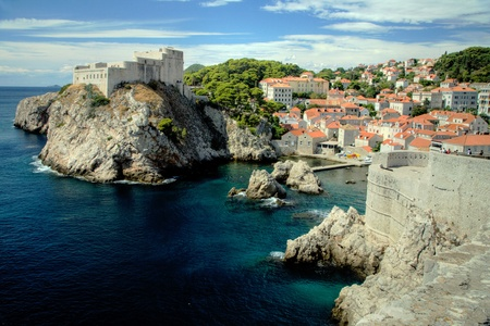 Historic Old Town and Fortress of Dubrovnik, Croatia on the Adriatic Sea