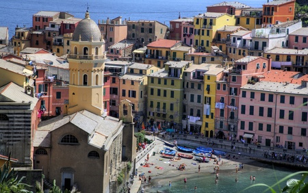 Cinque Terre Fishing Village Stock Photo
