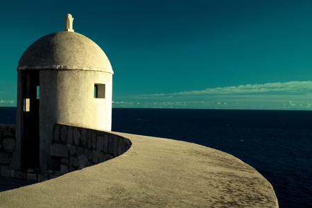 Lookout Point on Dubrovnik walls, Croatia Stock Photo