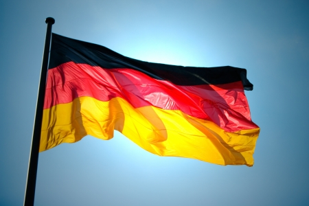 The national German flag of Germany