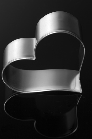 Silver Heart Shaped Cookie Cutter