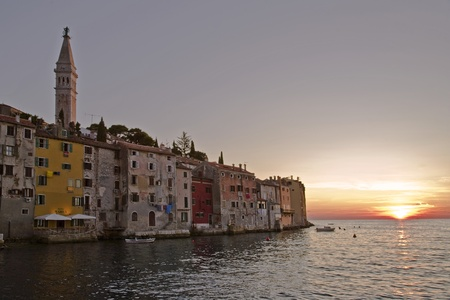 Sunset in Rovinj in Summer, Croatia