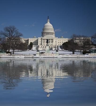 Capitol Hill Amazing Reflection, Washington DC Stock Photo