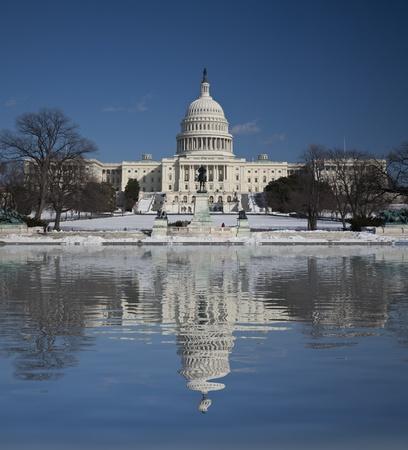 Capitol Hill Amazing Reflection, Washington DC Standard-Bild