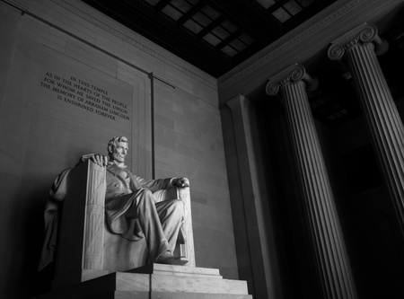 Lincoln Memorial, black and white Stock Photo