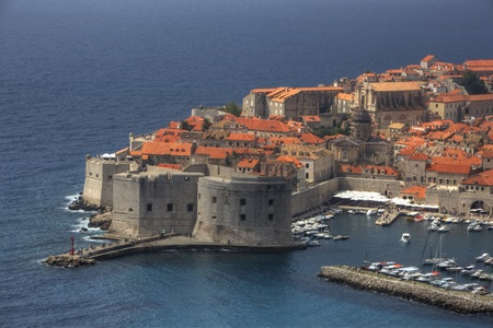 Postcard View of Old Town Dubrovnik, Croatia