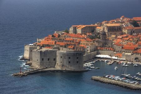 Postcard View of Old Town Dubrovnik, Croatia