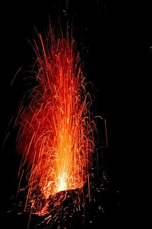 volcanic: Stromboli Volcano Erupting, Italy
