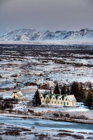 Beautiful little village in Iceland
